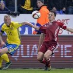 السويد تهزم الدنمارك 2-1 في ملحق تصفيات بطولة أوروبا 2016