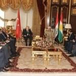 وزير الخارجية التركي يجري محادثات مع برزاني في أربيل