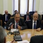 وزراء خارجية روسيا وايران وتركيا يبحثون النزاع السوري في موسكو