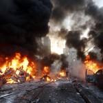 لبنان : عشرات القتلى في تفجيرين انتحاريين ببيروت