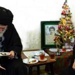 خامنئي يزور عائلات مسيحية بمناسبة عيد الميلاد في إيران