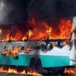 9 جرحى في سقوط قذيفة على حافلة نقل بدمشق