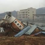 سقوط ضحايا جراء انهيار مبان في انزلاق أرضي بالصين