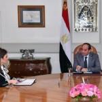 السيسي يستعرض نتائج زيارة وزيرة التعاون الدولي للكويت والإمارت