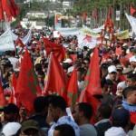 آلاف الطلاب المغاربة يتظاهرون في الرباط