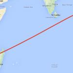 خريطة| مسار محتمل لحطام رحلة الخطوط الماليزية «إم اتش 370»