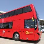 صور| حافلات تحمل شعار «صنعت في مصر لشوارع لندن»