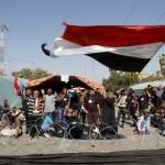أنصار الصدر يواصلون اعتصامهم أمام المنطقة الخضراء ببغداد
