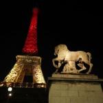 إضاءة برج «إيفل» في باريس بألوان العلم البلجيكي