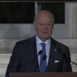 فيديو| دي ميستورا: هناك بوادر اتفاق على الانتقال السياسي في سوريا