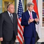 شكري وكيري يناقشان الأوضاع الإقليمية في سوريا وليبيا