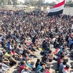فيديو| العبادي يتهم «مندسين» بمهاجمة القوات العراقية وعلاوي يدعو للتفاوض