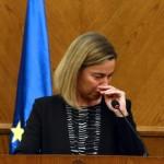 فيديو  دموع موجيريني على تفجيرات بروكسل «رسالة عنيفة»