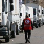 قافلة مساعدات ثانية تدخل مدينة الرستن في وسط سوريا