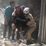 قصف مستوصف في مناطق تابعةللمعارضة السورية بحلب
