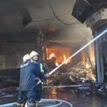 حريق يلتهم محالا تجارية في أحد أسواق دمشق