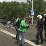 فيديو| اشتباكات في بروكسل بين الشرطة ومتظاهرين أثناء اجتماع بشأن اليونان
