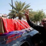 تشييع جثامين محتجين قتلوا في بغداد