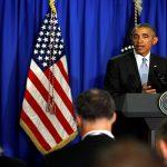 أوباما يتحدث أمام مؤتمر الحزب الديموقراطي لدعم هيلاري كلينتون