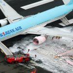 إخلاء طائرة ركاب في مطار هانيدا باليابان