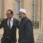 فيديو  أولاند يلتقي شيخ الأزهر بهدف تجديد مسار الحوار بين المسلمين والغرب
