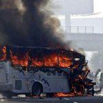 مقتل 30 شخصا في حريق حافلة وسط الصين