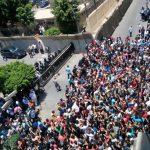 طلاب مصريون يتظاهرون أمام وزارة التعليم بعد إلغاء امتحان الديناميكا