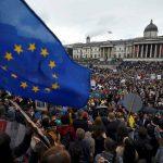 صور| محتجون في لندن يرفضون الخروج من الاتحاد الأوروبي