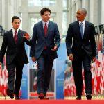 أوباما يصل إلى أوتاوا للاجتماع مع زعيمي كندا والمكسيك