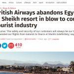 بريطانيا تشارك مصر في تأمين المطارات وخطوطها الجوية تحظر الرحلات لشرم الشيخ