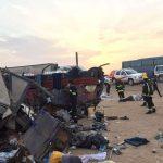 صور  مصرع 10 وإصابة 40 بانقلاب حافلة تقل معتمرين في السعودية
