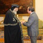 السيسي يلتقي البابا تواضروس على خلفية «أحداث طائفية» في مصر