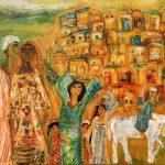 «مراسيل الحب».. معرض لوحات يكشف عن المرأة في الموروثات الشعبية