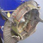 انفجار محرك طائرة ركاب أمريكية أثناء تحليقها