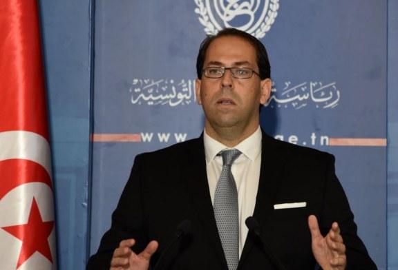 الشاهد يجري أول تعديل وزاري في الحكومة التونسية