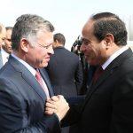 السيسي والملك عبدالله يبحثان هاتفيا آخر مستجدات القضية الفلسطينية