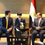 الرئيس المصري يتمنى الشفاء لرئيس وزراء اليابان