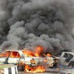 فيديو| انفجار سيارتين قرب وزارة الخارجية الليبية