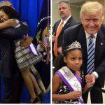 رد فعل طفلة أمريكية تجاه أوباما وترامب يثير السخرية على مواقع التواصل الاجتماعي