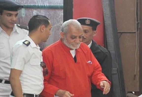 الحكم بالحبس لمدة عام على بديع ونجل مرسي وعدد من قيادات الإخوان لإهانة القضاء
