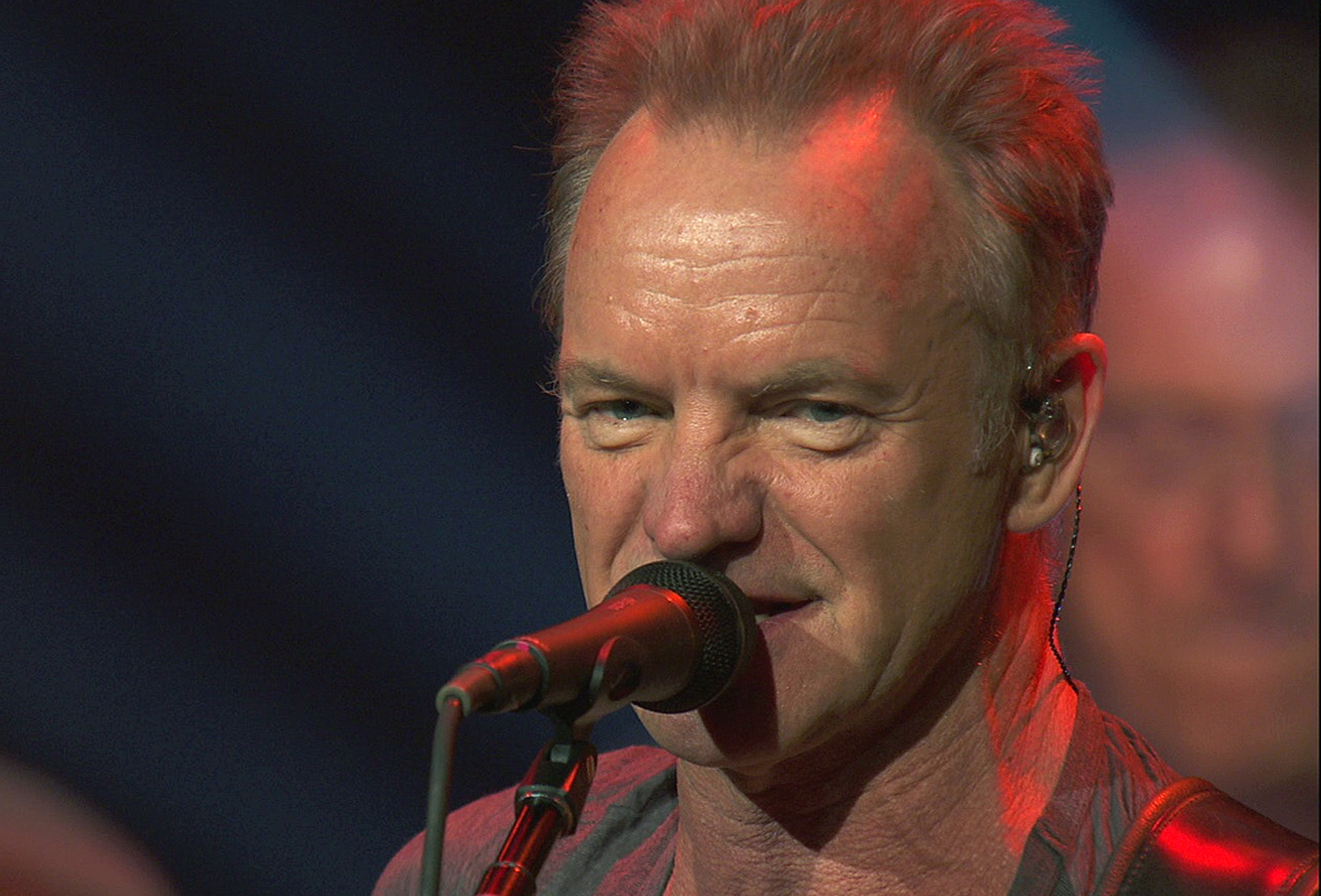 Musician Sting performs sound-check before his performance at the Bataclan concert hall in Paris