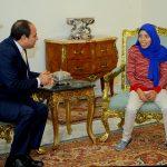 تعرف على «فتاة العربة» التي التقاها الرئيس عبد الفتاح السيسي