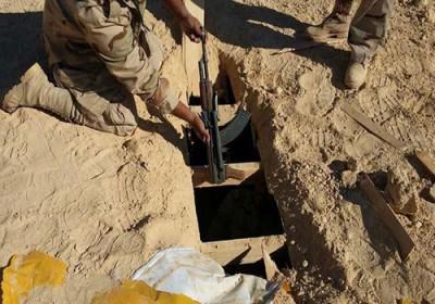 الجيش المصري يدمر 12 فتحة نفق على الشريط الحدودي شمال سيناء   الغد