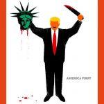«دير شبيجل» الألمانية: ترامب يقطع رأس «تمثال الحرية»
