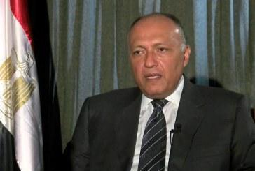 شكري: الملف الفلسطيني مطروح على أجندة لقاء السيسي وترامب