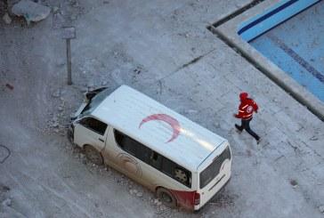المرصد: قصف مركز للهلال الأحمر بسوريا في ضربات جوية