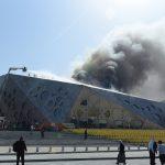 صور  السيطرة على حريق مركز الشيخ جابر الثقافي بالكويت