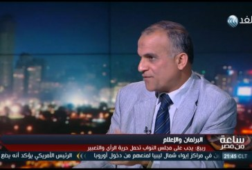 فيديو| هاشم ربيع يطالب «النواب» المصري بتحمل حرية الرأى والتعبير