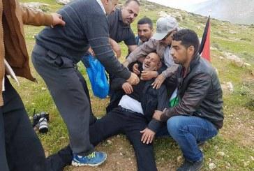 الاحتلال يقمع مسيرة مناهضة للاستيطان في رام الله وإصابة 12 فلسطينيا
