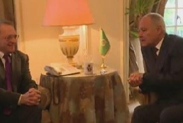 فيديو| أبو الغيط يبحث مع مبعوث الرئيس الروسي الملفين السوري والليبي